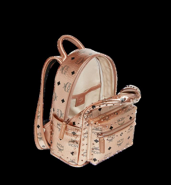 MCM Stark Backpack in Studded Outline Visetos Gold MMK8AVE66TC001 Alternate View 5