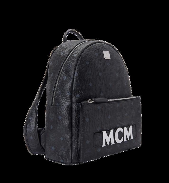 MCM Trilogie Stark Backpack in Visetos Black MMK8AVE72BK001 Alternate View 2
