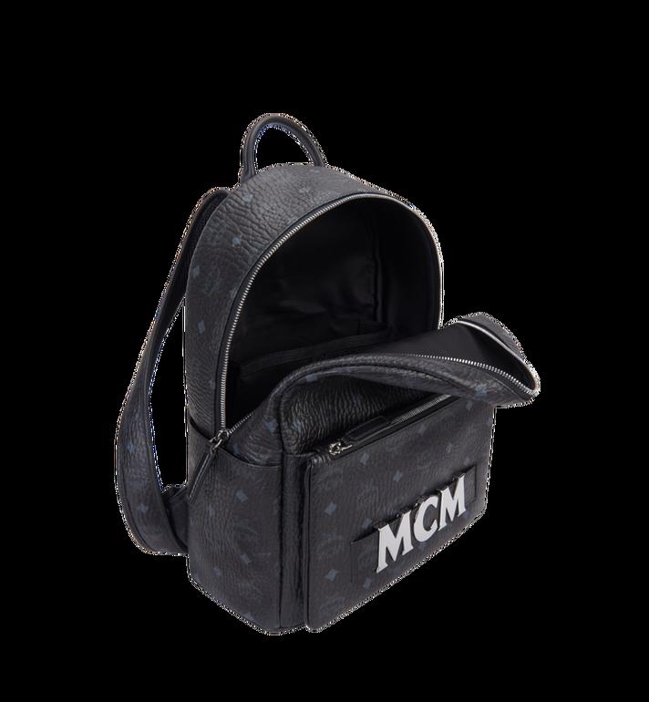 MCM Trilogie Stark Backpack in Visetos Black MMK8AVE72BK001 Alternate View 7