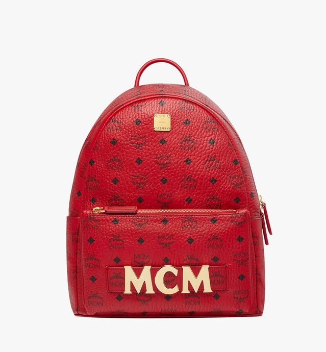 MCM x RED Trilogie Stark Backpack in Visetos