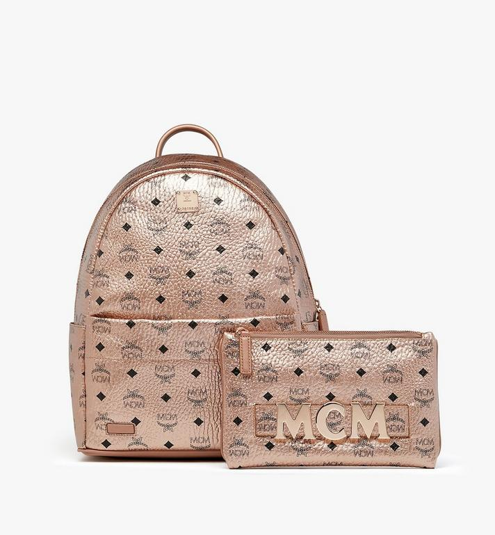 MCM Trilogie Stark Backpack in Visetos  MMK8AVE75TC001 Alternate View 4