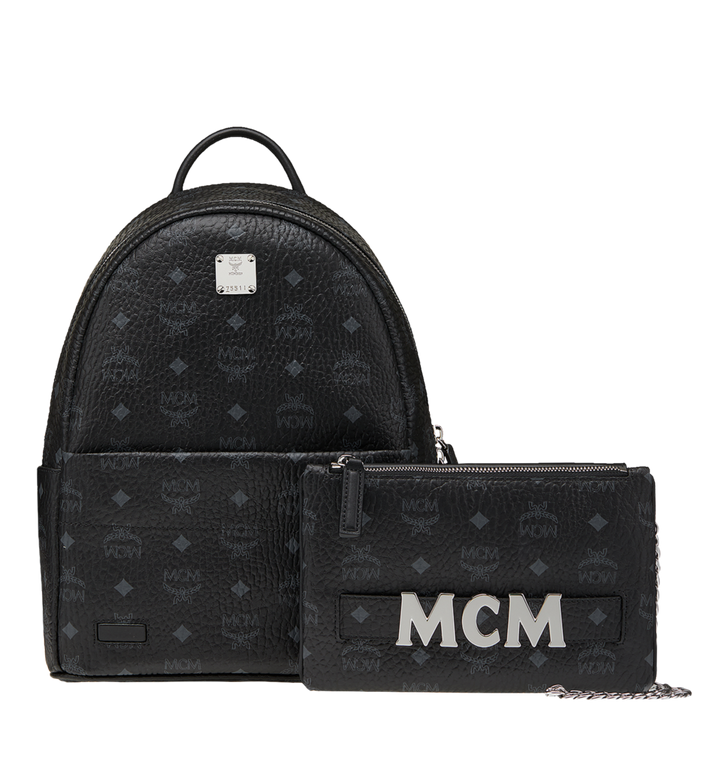 MCM Trilogie Stark Backpack in Visetos  MMK8AVE83BK001 Alternate View 2