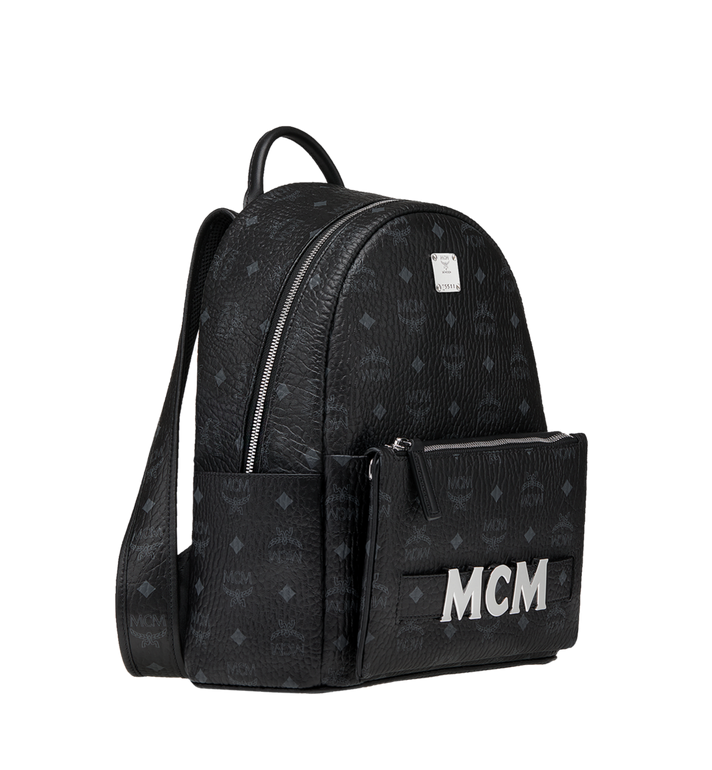 MCM Trilogie Stark Rucksack in Visetos  MMK8AVE83BK001 Alternate View 3