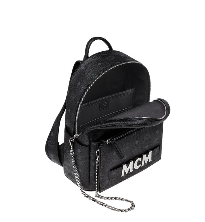 MCM Trilogie Stark Backpack in Visetos  MMK8AVE83BK001 Alternate View 6