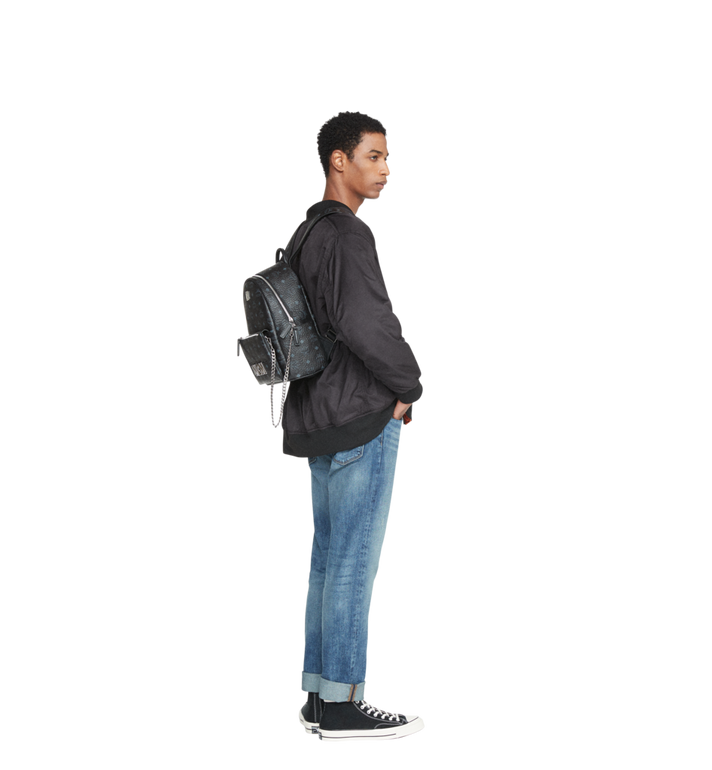 MCM Trilogie Stark Backpack in Visetos  MMK8AVE83BK001 Alternate View 9