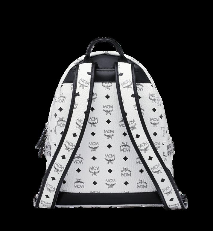 MCM Stark Side Studs Backpack in Visetos White MMK8AVE99WT001 Alternate View 4