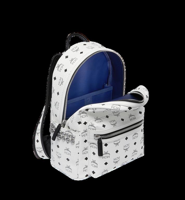 MCM Stark Side Studs Backpack in Visetos White MMK8AVE99WT001 Alternate View 5