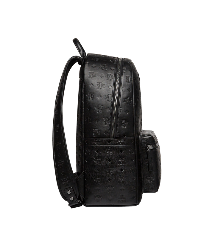 MCM Stark 字母組合皮革雙肩背包 Black MMK8SOT43BK001 Alternate View 3