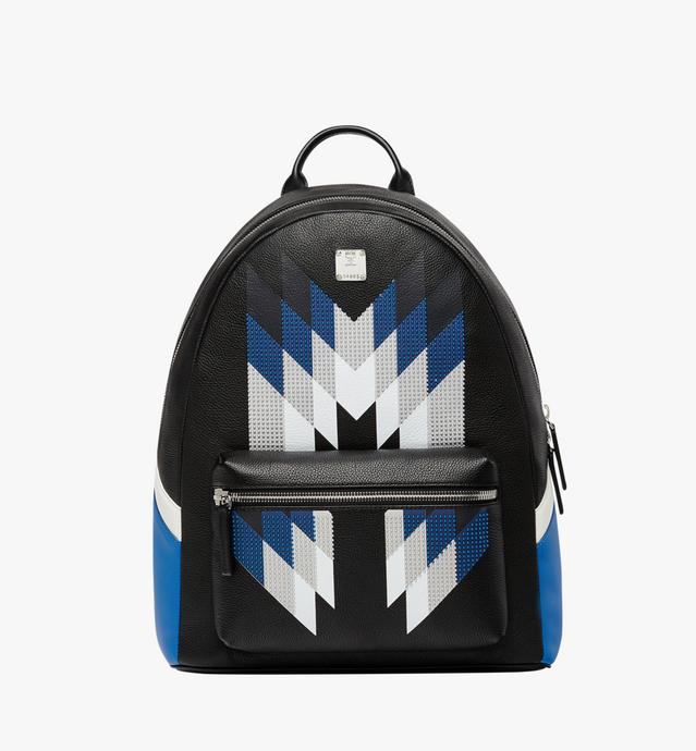 Stark Chevron Diamond Backpack in Leather