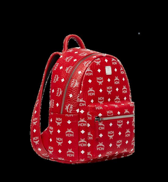 MCM Stark White Logo Backpack in Visetos Red MMK8SVE49RV001 Alternate View 2
