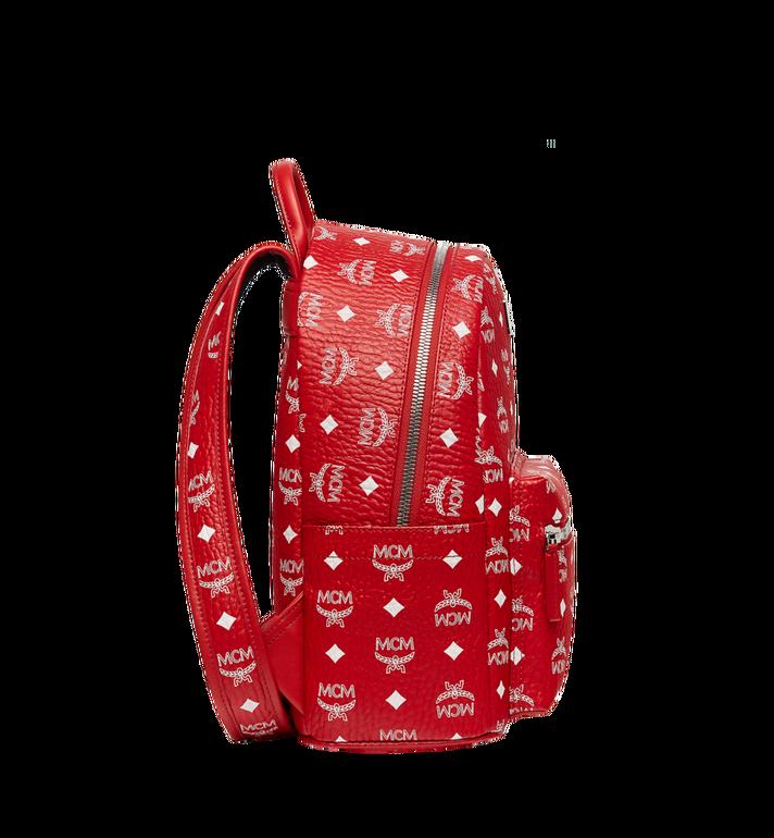 MCM Stark White Logo Backpack in Visetos Red MMK8SVE49RV001 Alternate View 3