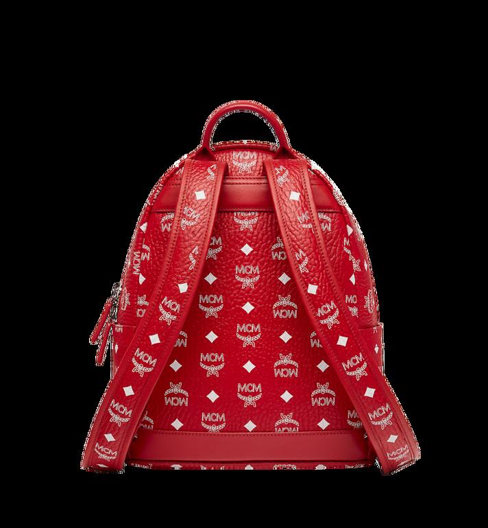 MCM Stark White Logo Backpack in Visetos Red MMK8SVE49RV001 Alternate View 4