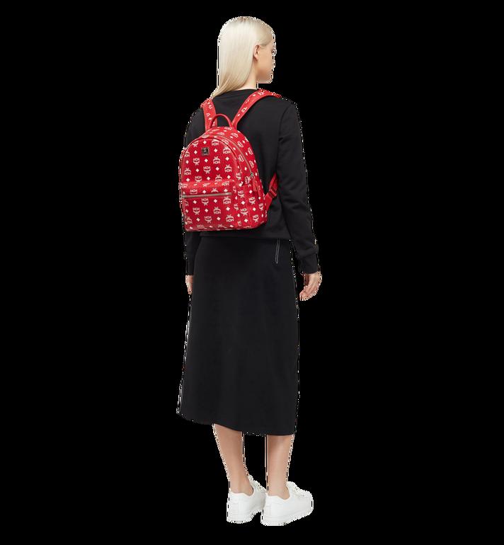 MCM Stark White Logo Backpack in Visetos Red MMK8SVE49RV001 Alternate View 6