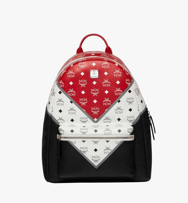 Stark Chevron Backpack in Visetos Colorblock Leather
