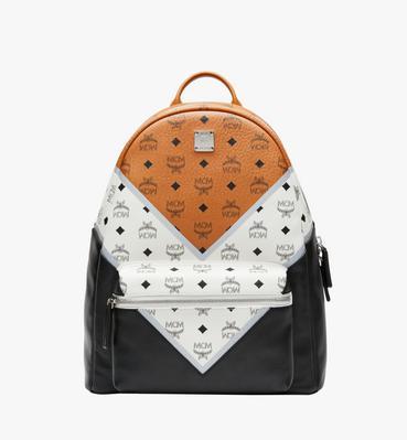 Stark Chevron Backpack in Visetos Colorblock Leath