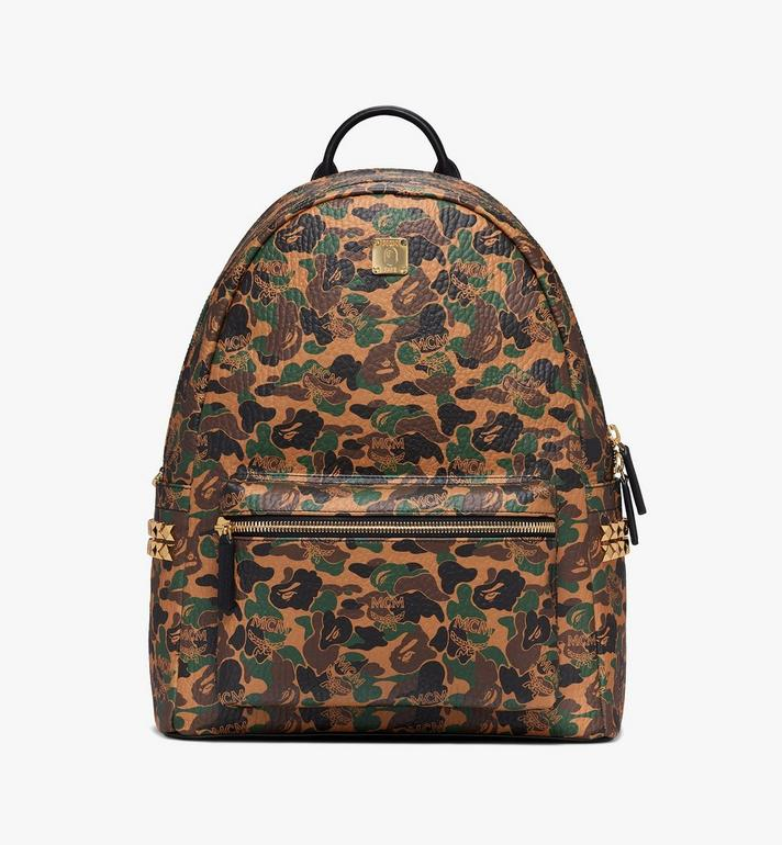 MCM MCM x BAPE Shark Stark Rucksack in Camo Visetos Alternate View