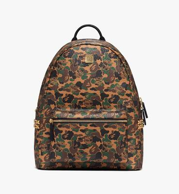 MCM x BAPE Stark Backpack in Camo Visetos