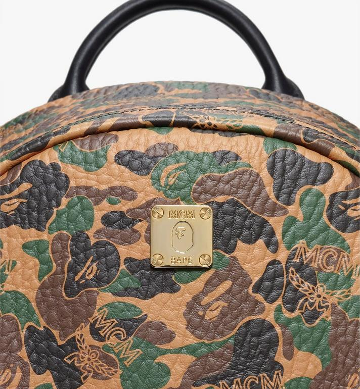 MCM MCM x BAPE Shark Stark Rucksack in Camo Visetos  MMK9AMB02CW001 Alternate View 2
