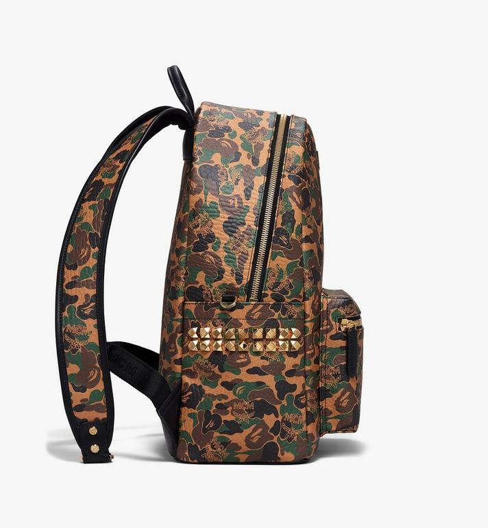 MCM MCM x BAPE Shark Stark Rucksack in Camo Visetos  MMK9AMB02CW001 Alternate View 3