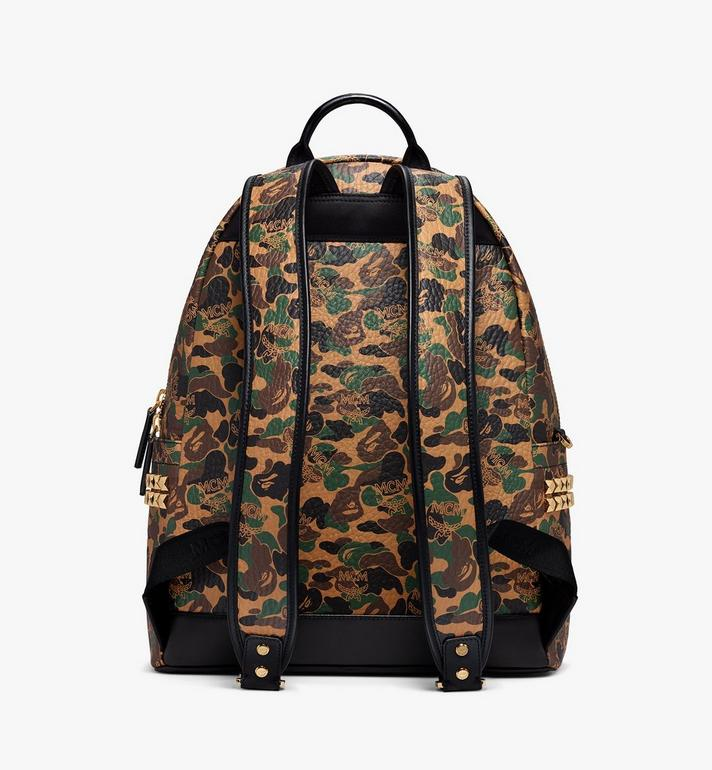 MCM MCM x BAPE Shark Stark Rucksack in Camo Visetos  MMK9AMB02CW001 Alternate View 4