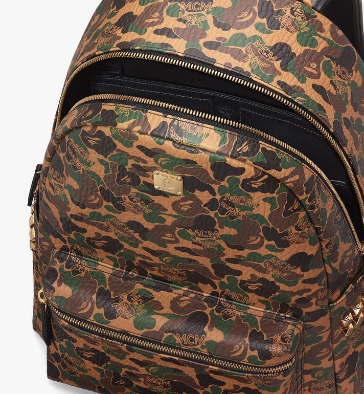 MCM MCM x BAPE Shark Stark Rucksack in Camo Visetos  MMK9AMB02CW001 Alternate View 5