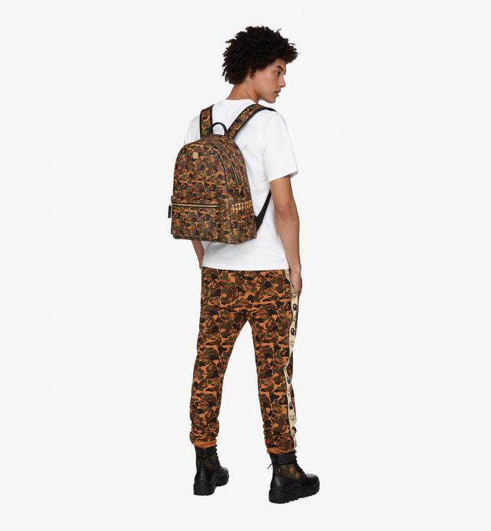 MCM MCM x BAPE Shark Stark Rucksack in Camo Visetos  MMK9AMB02CW001 Alternate View 6