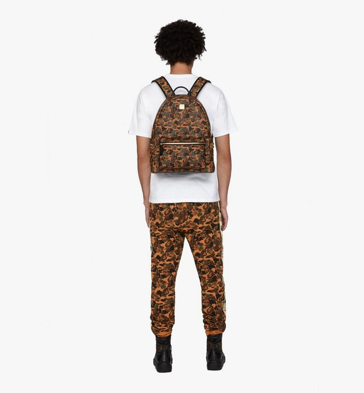 MCM MCM x BAPE Shark Stark Rucksack in Camo Visetos  MMK9AMB02CW001 Alternate View 7