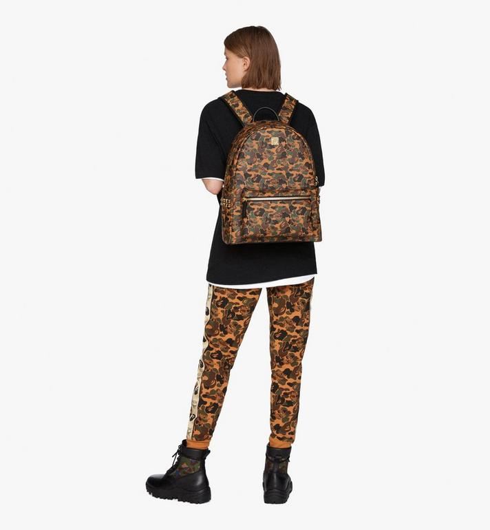 MCM MCM x BAPE Shark Stark Rucksack in Camo Visetos  MMK9AMB02CW001 Alternate View 9