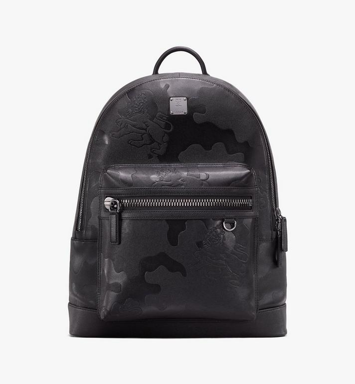MCM Stark Backpack in Embossed Lion Camo Alternate View