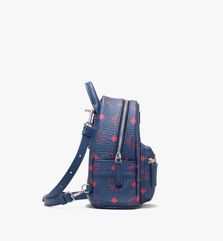MCM Stark Bebe Boo Backpack in Visetos Blue MMK9AVE33VS001 Alternate View 2