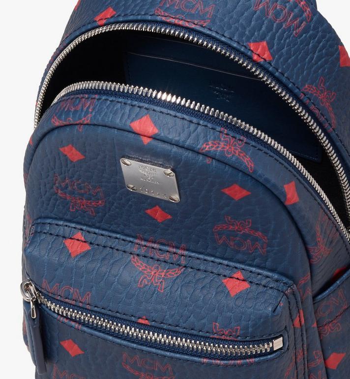 MCM Stark Bebe Boo Backpack in Visetos Blue MMK9AVE33VS001 Alternate View 4
