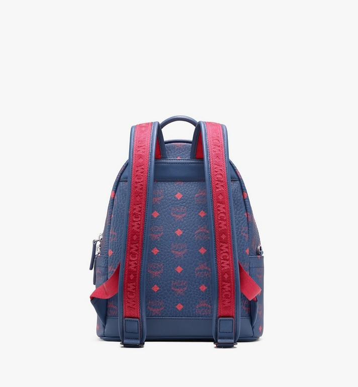 MCM Stark Backpack in Visetos Blue MMK9AVE51VS001 Alternate View 3