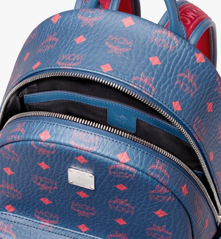MCM Stark Backpack in Visetos Blue MMK9AVE51VS001 Alternate View 4