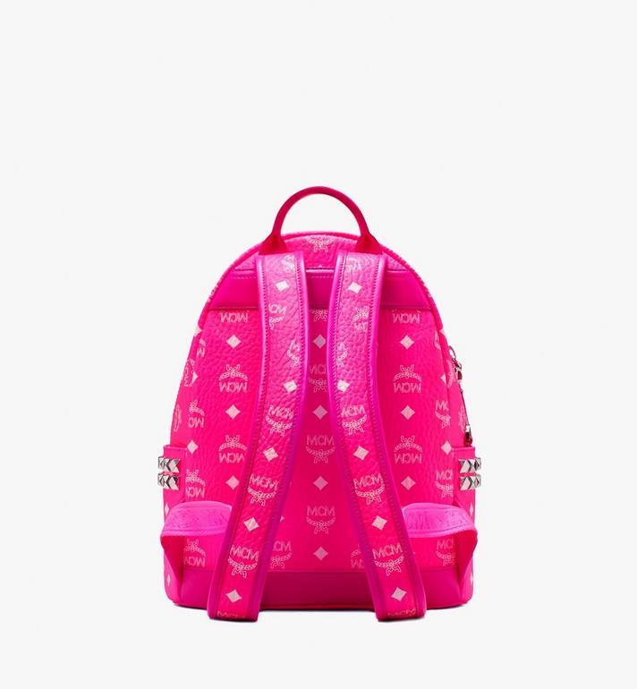 MCM Stark Backpack in Neon Visetos  MMK9AVE56QP001 Alternate View 3