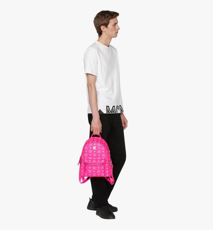 MCM Stark Backpack in Neon Visetos  MMK9AVE56QP001 Alternate View 5