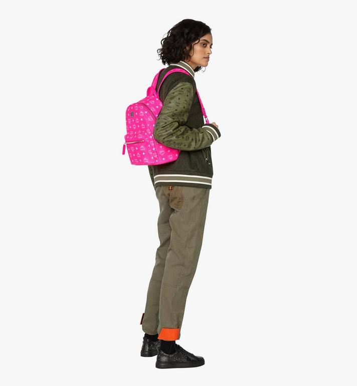 MCM Stark Backpack in Neon Visetos  MMK9AVE56QP001 Alternate View 6