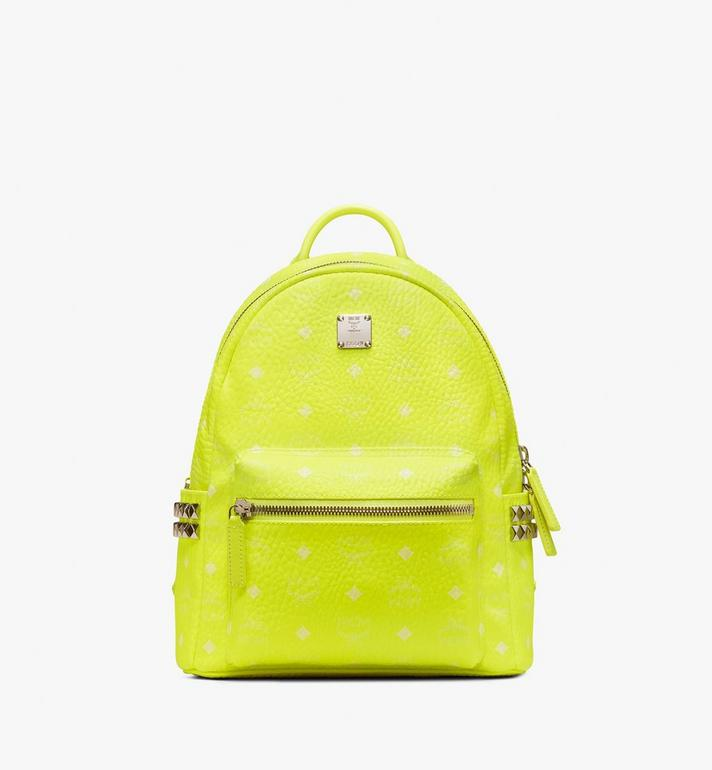 MCM Stark Backpack in Neon Visetos  MMK9AVE56YN001 Alternate View 1