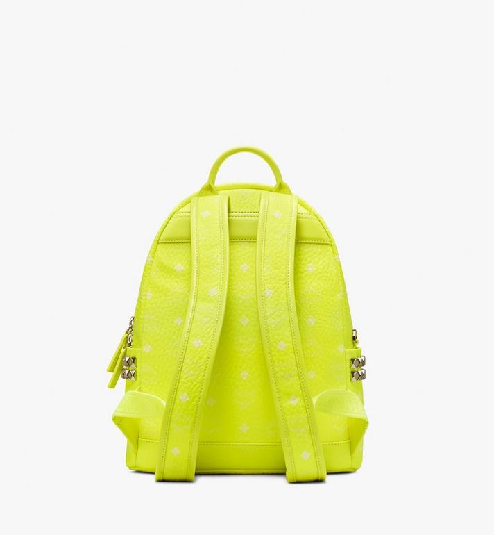 MCM Stark Backpack in Neon Visetos  MMK9AVE56YN001 Alternate View 3