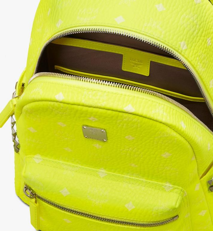 MCM Stark Backpack in Neon Visetos  MMK9AVE56YN001 Alternate View 4