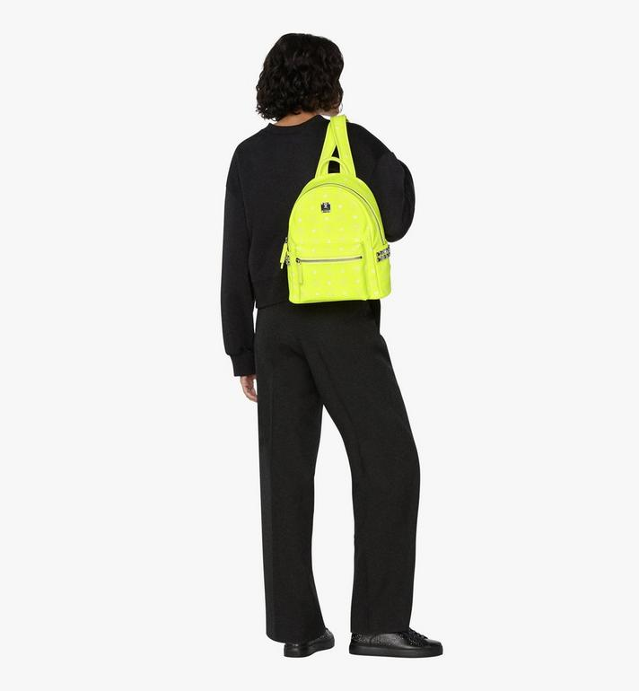 MCM Stark Backpack in Neon Visetos  MMK9AVE56YN001 Alternate View 6