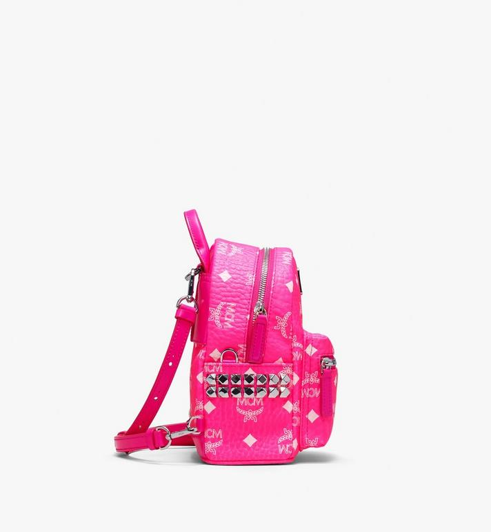 MCM Stark Backpack in Neon Visetos Pink MMK9AVE66QP001 Alternate View 2