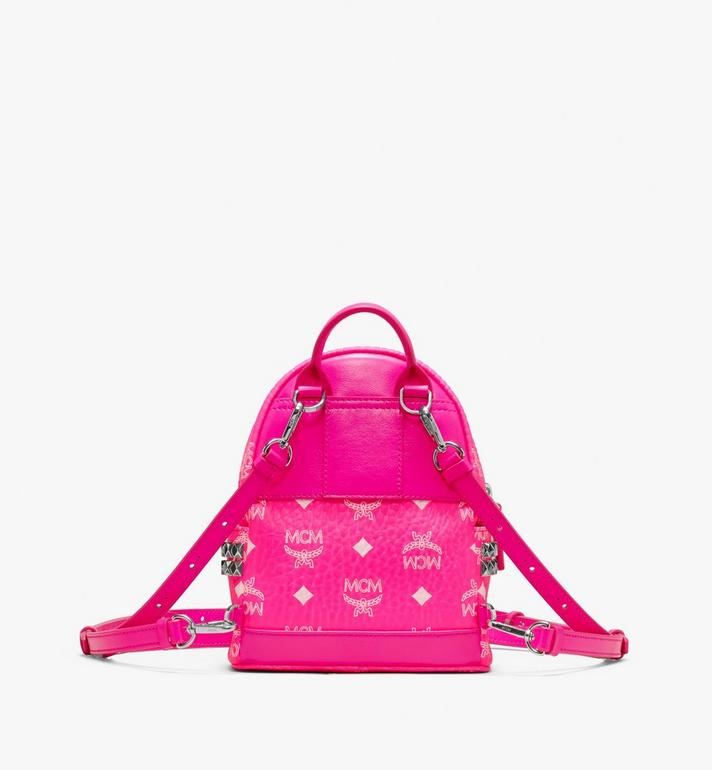 MCM Stark Backpack in Neon Visetos Pink MMK9AVE66QP001 Alternate View 3