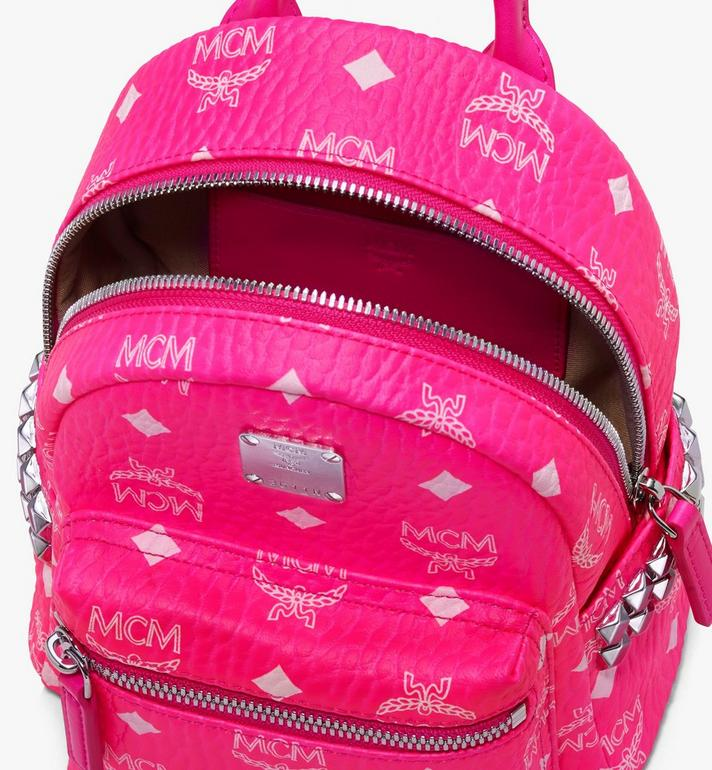 MCM Stark Backpack in Neon Visetos Pink MMK9AVE66QP001 Alternate View 4