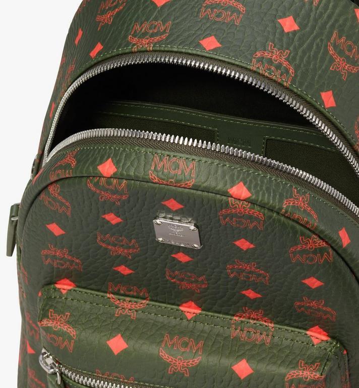 MCM Stark Backpack in Visetos Green MMK9AVE97G8001 Alternate View 4