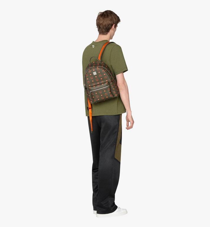 MCM Stark Backpack in Visetos Green MMK9AVE97G8001 Alternate View 5