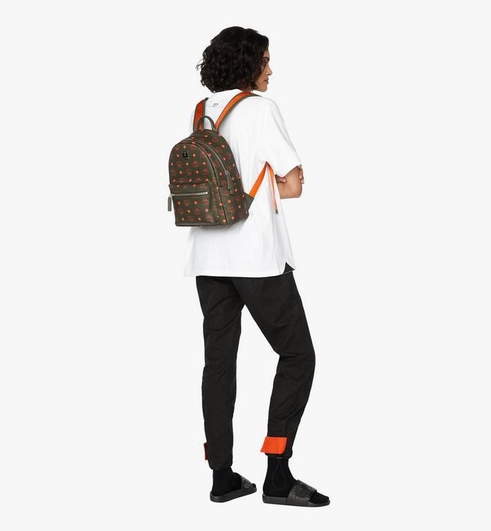 MCM Stark Backpack in Visetos Green MMK9AVE97G8001 Alternate View 6