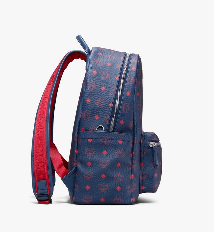 MCM Stark Backpack in Visetos Blue MMK9AVE98VS001 Alternate View 2
