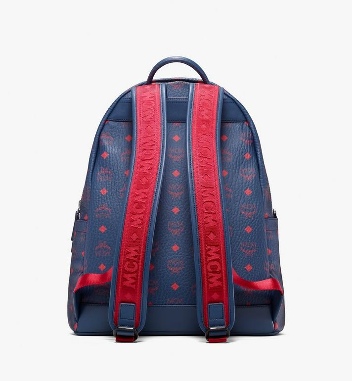MCM Stark Backpack in Visetos Blue MMK9AVE98VS001 Alternate View 3