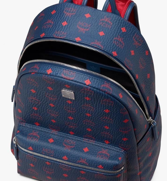 MCM Stark Backpack in Visetos Blue MMK9AVE98VS001 Alternate View 4