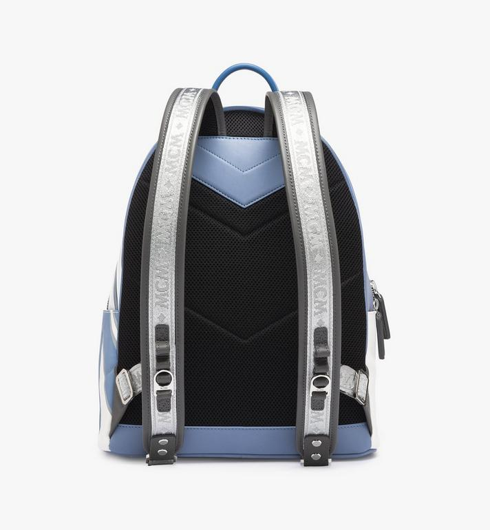 MCM Stark Backpack in Contrast Logo Leather Alternate View 3